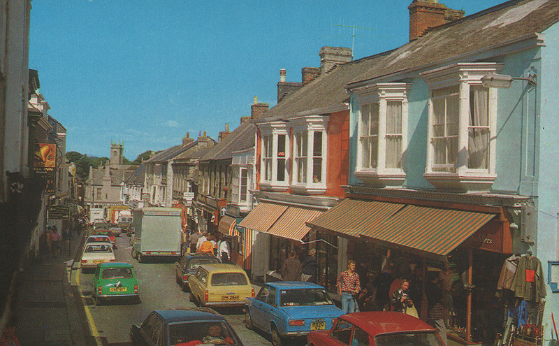 Main Street Helston Cornwall Old Postcard Late 1970s