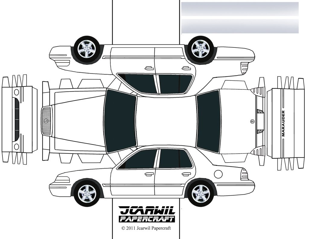 Design Your Own Car >> JCARWIL PAPERCRAFT 2003 Mercury Grand Marquis MARAUDER | Flickr