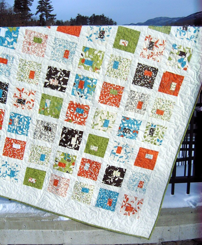 Quilt Patterns With Two Fabrics : Heaven s Door quilt pattern with Chrysalis fabric by Sanae? Flickr