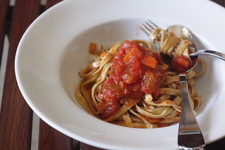 marinara with garlic & parsley fettuccine | by Madison Bistro