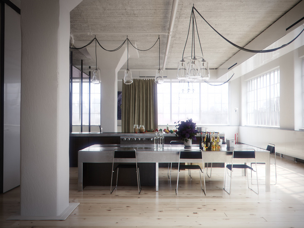 Tribeca Loft Modeling In 3ds Max Rendering In Vray