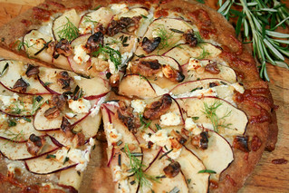 Apple, Goat Cheese and Walnut Pizza-9 | by Sonia! The Healthy Foodie