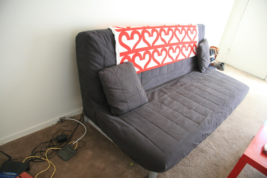 beddinge lovas sofa bed with two cushions 60 bought it l flickr. Black Bedroom Furniture Sets. Home Design Ideas