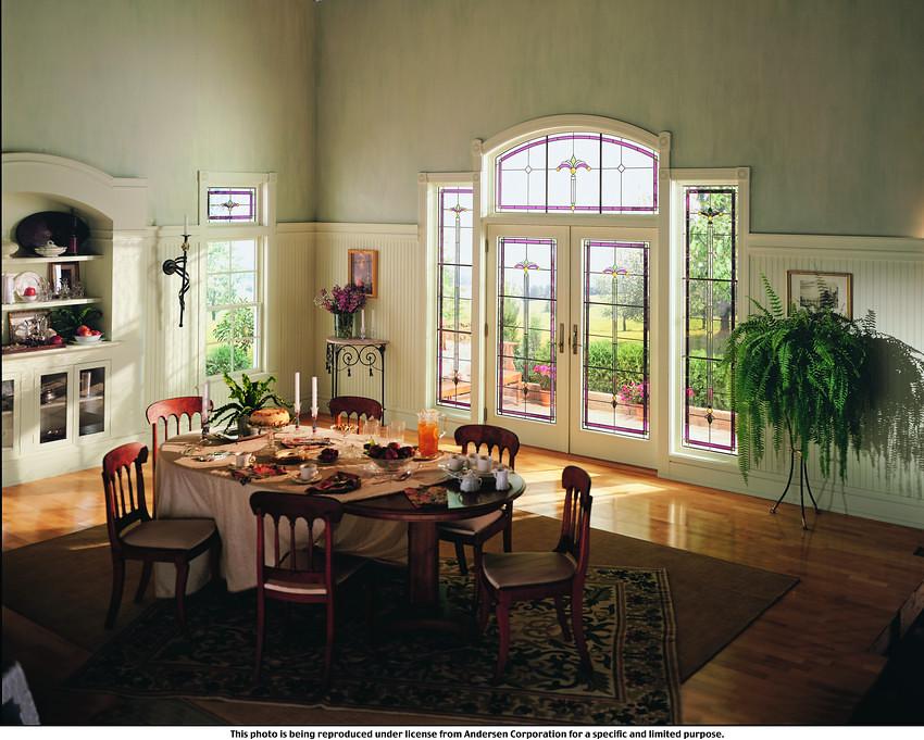400 series art glass classic series regency panels flickr for Andersen windows art glass