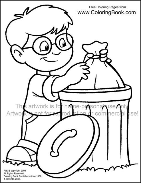 coloring pages garbage | kid with trash--free-coloring-page | Flickr - Photo Sharing!