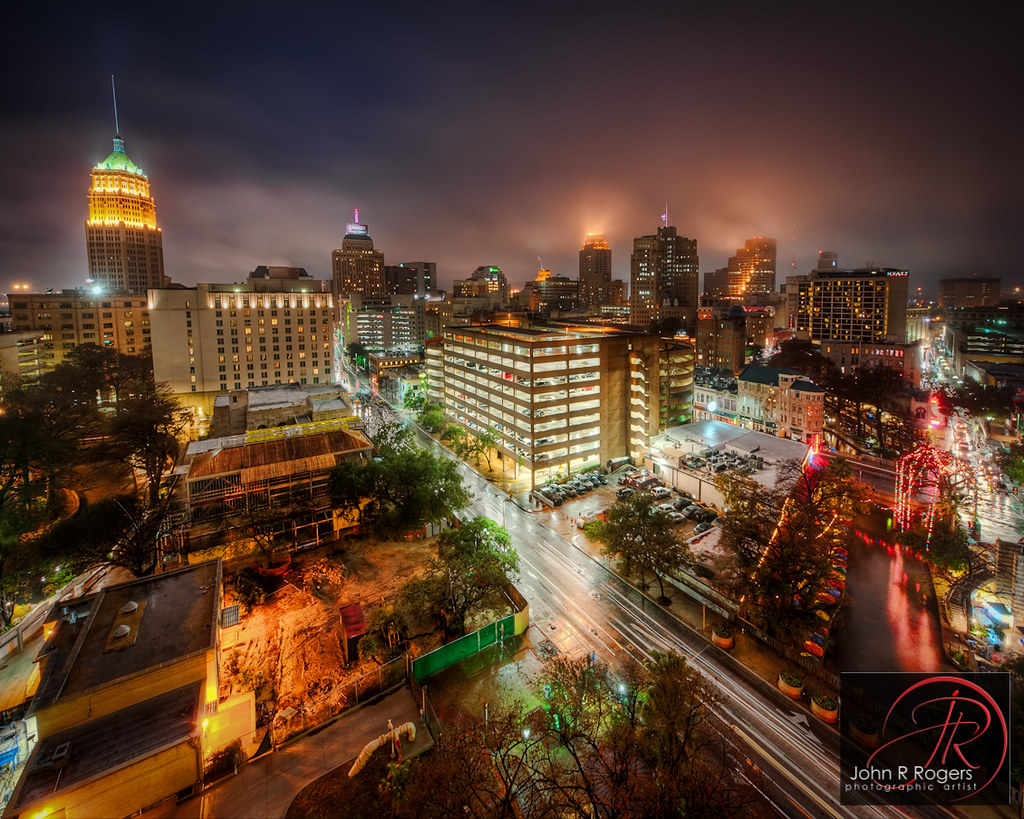 Misty San Antonio Night This Past Week I Attended The