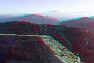 Cape Town - Table Mountain in anaglyph 3D red blue glasses to view | by 3dstereopics