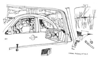 (Sub)urban sketch_In the car | by carolhsiung
