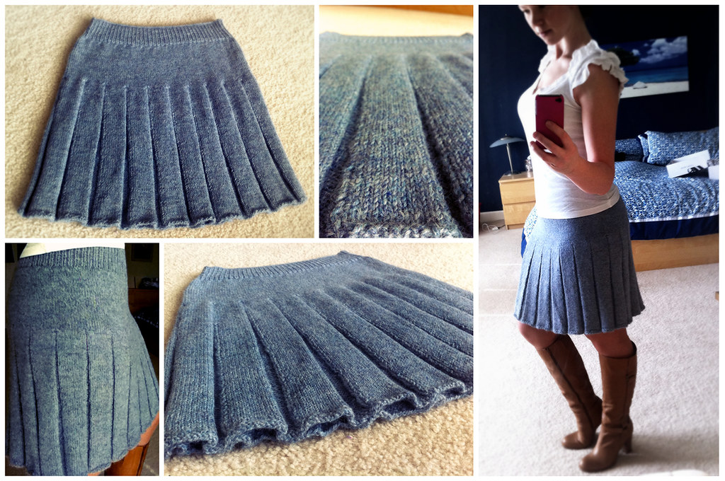 Easy Mittens Knitting Pattern : Knit In The Round Pleated Skirt Blog post, pattern and Rav? Flickr