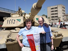 Joachim and I in front of a tank