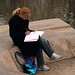 Woman Studying at Constitution Gardens
