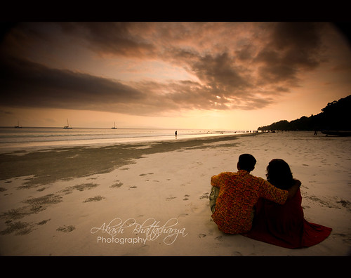 Watching the sunset | Andaman | by @k@sh