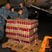 USS Ronald Reagan Sailors prepare for disaster relief efforts.