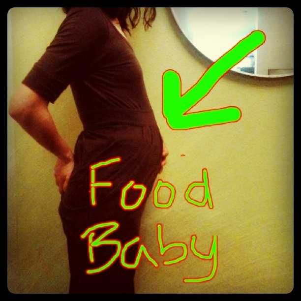 This is My food baby after eating 4 massive meals within 2 ...