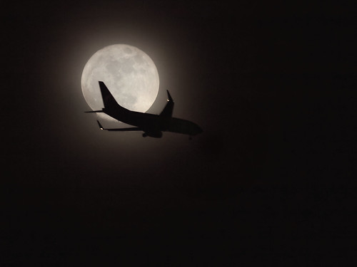 Jet Across the Super Moon | by Ingrid Taylar