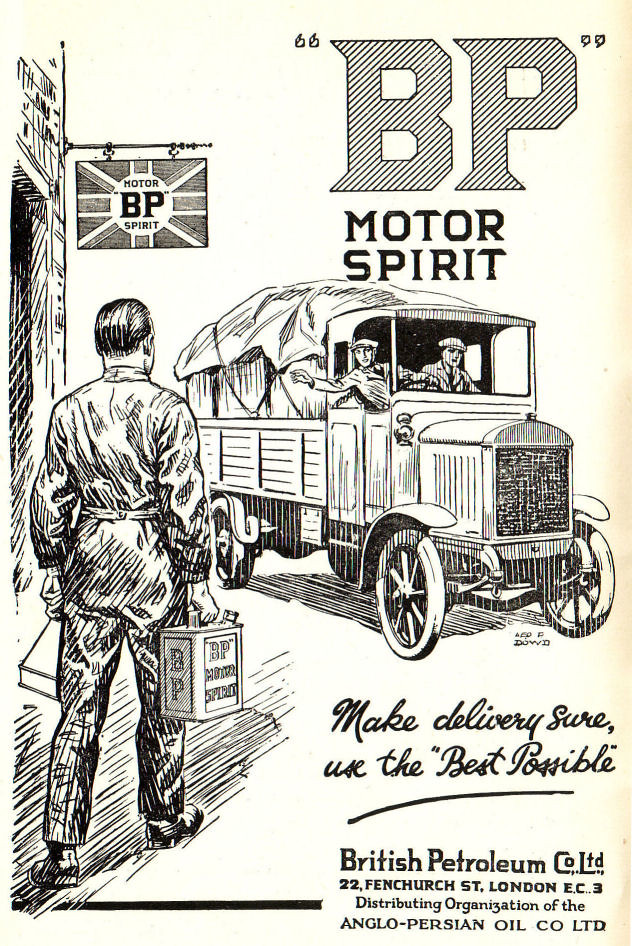 1923 Advert Bp Motor Spirit 1920s Motor Transport