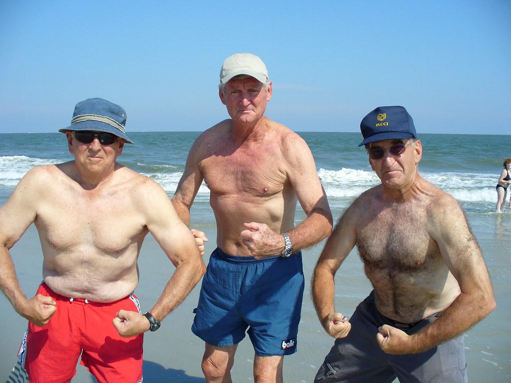 3 Old Men Posing On Beach  Barry Brown  Flickr-1128