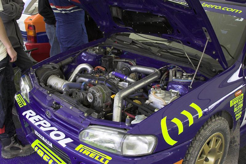 Subaru Impreza Wrc Rally Car S Engine Bay This Picture