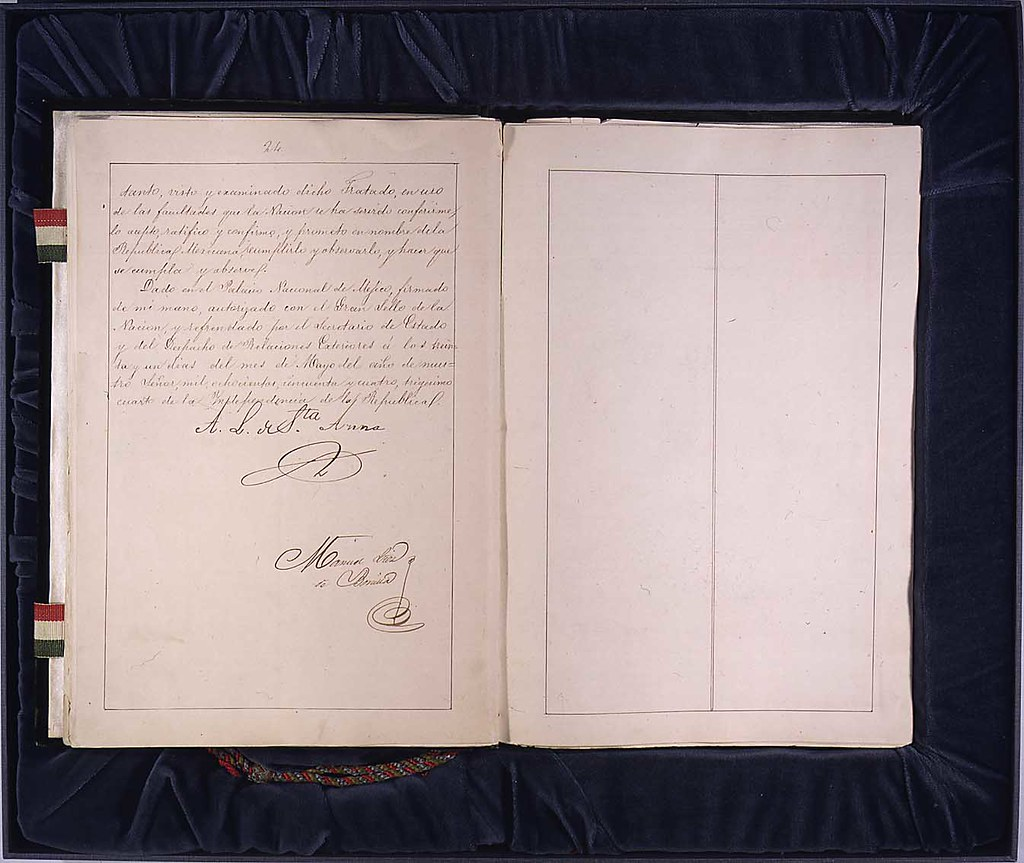 treaty of guadalupe The task was assigned to the commissioners of the united states of  consummating the treaty of peace, which was signed at guadalupe hidalgo on  the 2d day of.