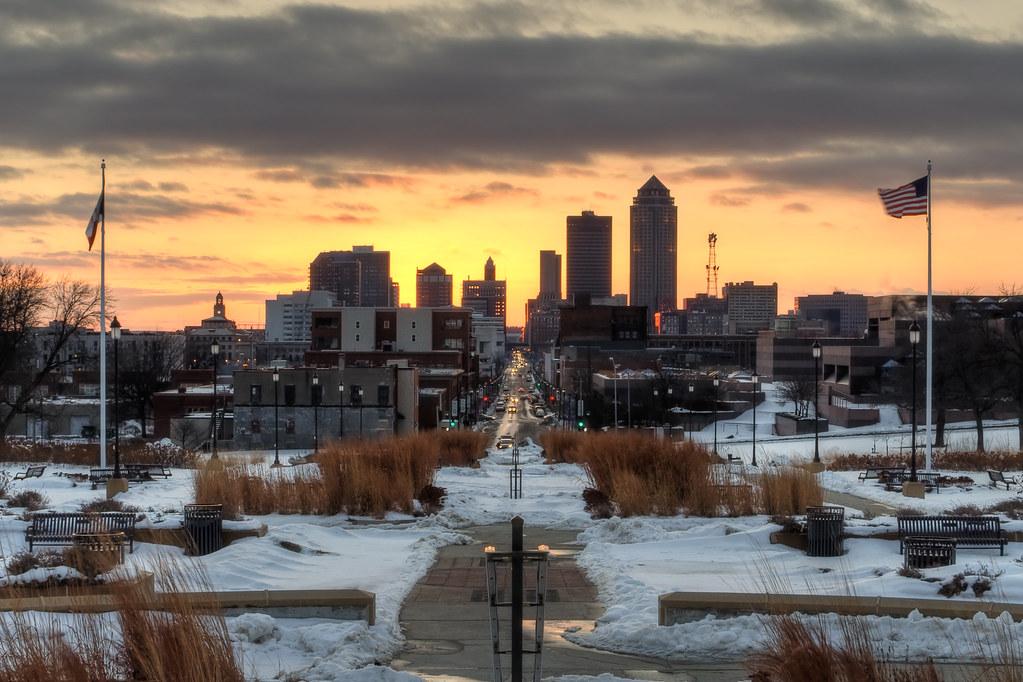 Des Moines Skyline - Winter Sunset | Flickr - Photo Sharing!
