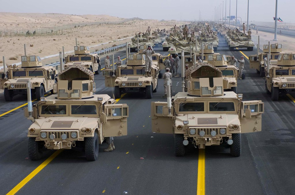 u s military rehearses for kuwait 39 s 50 20 parade image 1 flickr. Black Bedroom Furniture Sets. Home Design Ideas