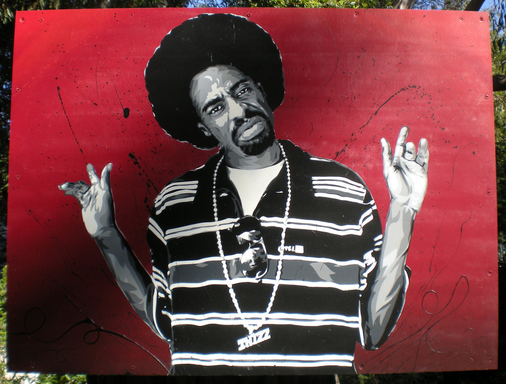 Best Mac Dre Thizz Face red   6 layer stencil of Bay Area Hip Hop…   Flickr OU68