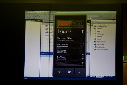 Demo'ing the TEDxCardiff WP7 app | by Sequence | Digital Agency