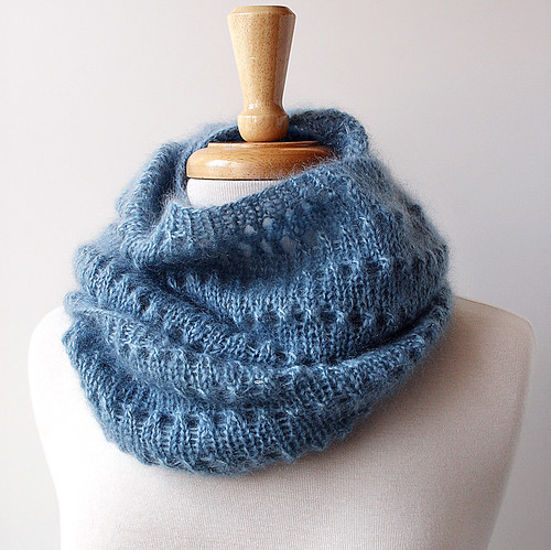 Genevieve Knit Cowl - Kid Mohair and Silk | by Elena Rosenberg Wearable Fiber Art