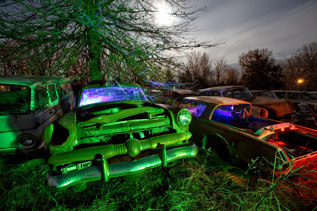 Abandoned Cars Auto Salvage Yard In Audrain County