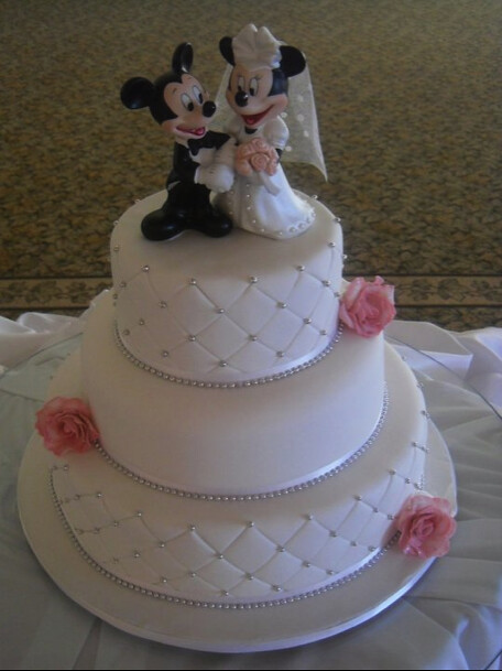 Mickey And Mini Mouse Wedding Cake Top Fruit Cake