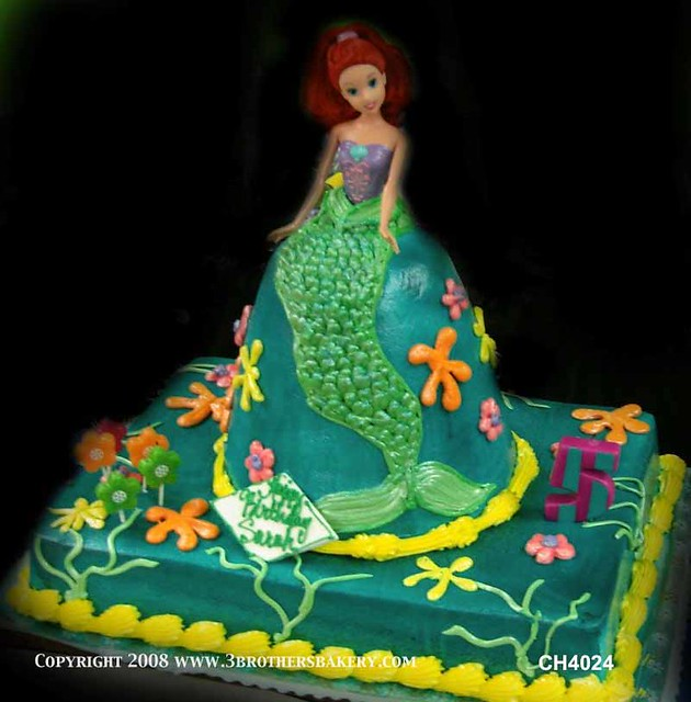 CH4024 Barbie Mermaid Cake Flickr - Photo Sharing!