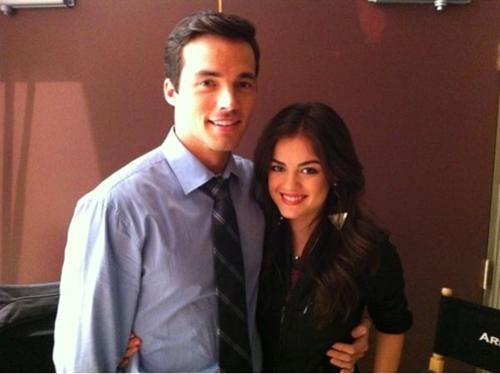 ezra and aria dating in real life