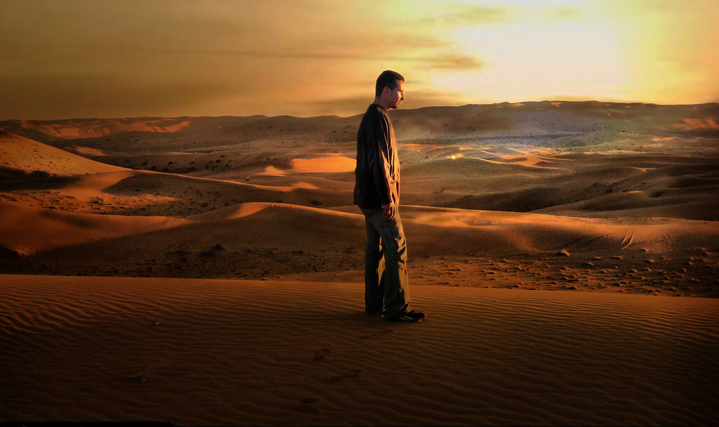 Desert The Lonely Man Always Wondering If He Ll Be Found