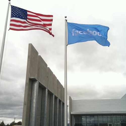 Facebook has its own flag. Hangs in front of datacenter and the tour is over. | by Robert Scoble
