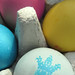 Coloured eggs with natural dyes