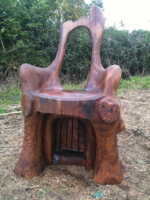 Storytelling chair chainsaw carving flickr photo sharing