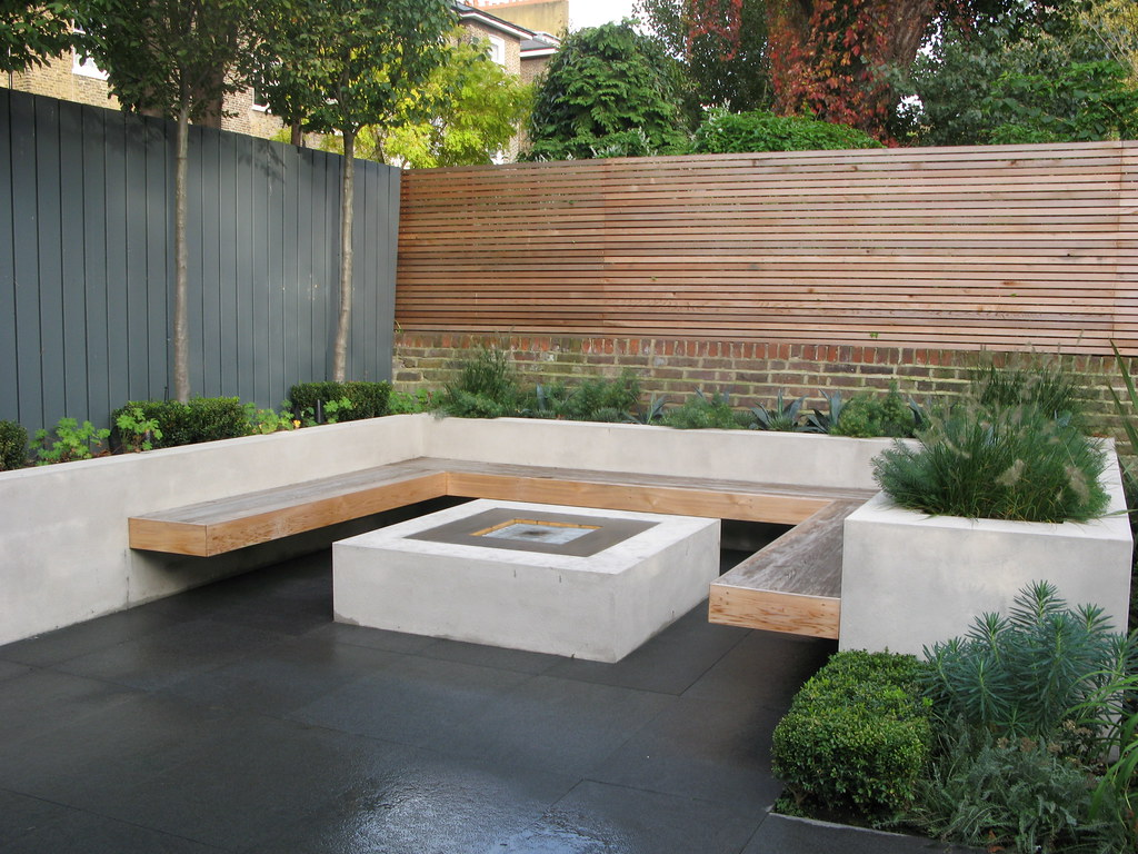 Chill out garden 2 copyright charlotte rowe garden design for Garden decking seating areas