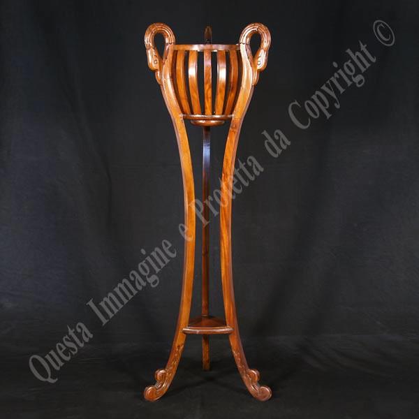 Portafiori cigno in legno portafiori in legno massello for Portafiori in legno