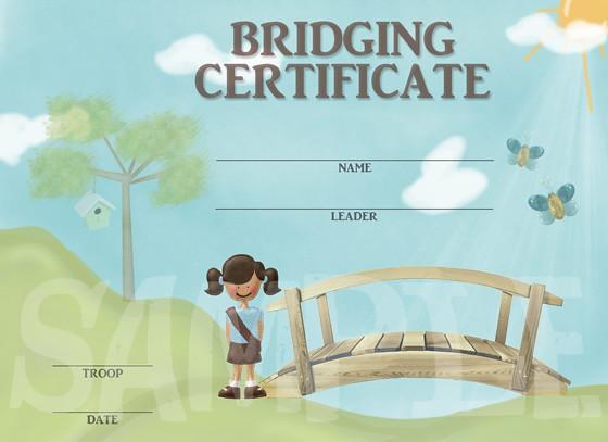 Girl Scouts Bridging Certificate | My bridging certificates ...