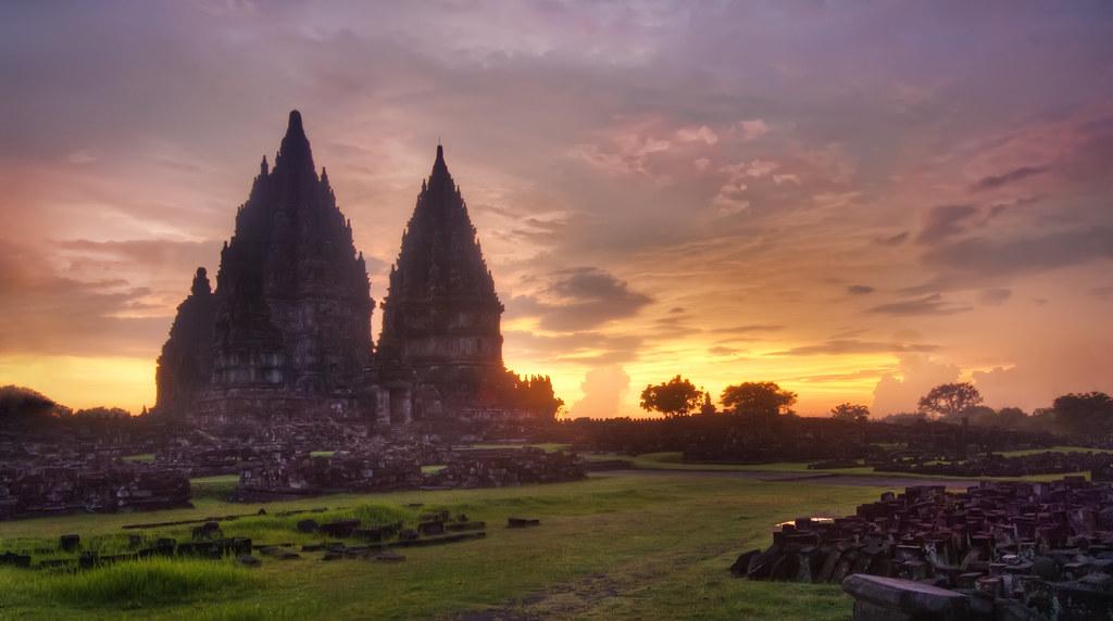 Prambanan Sunset   Sometimes the lighting is best right ...