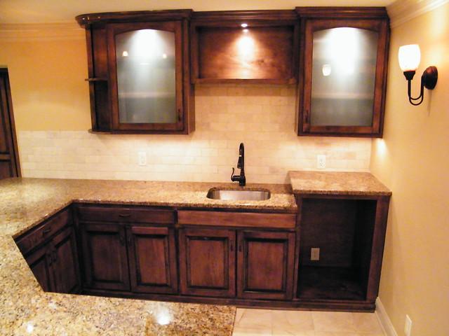 Basement_upper Cabinets Basement Wet Bar