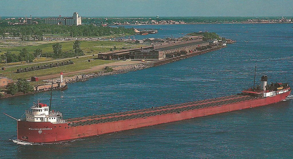 SE Port Huron MI St Clair Great Lakes Freighter Traffic US ...