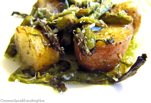 Roasted New Potatoes and Asparagus | by CinnamonKitchn