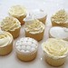 Sample wedding cupcakes - theme... ivory, roses, pearls