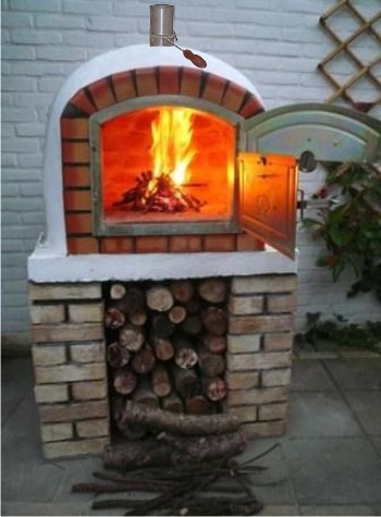 horno de pizza wood brick barbecue diy flickr. Black Bedroom Furniture Sets. Home Design Ideas