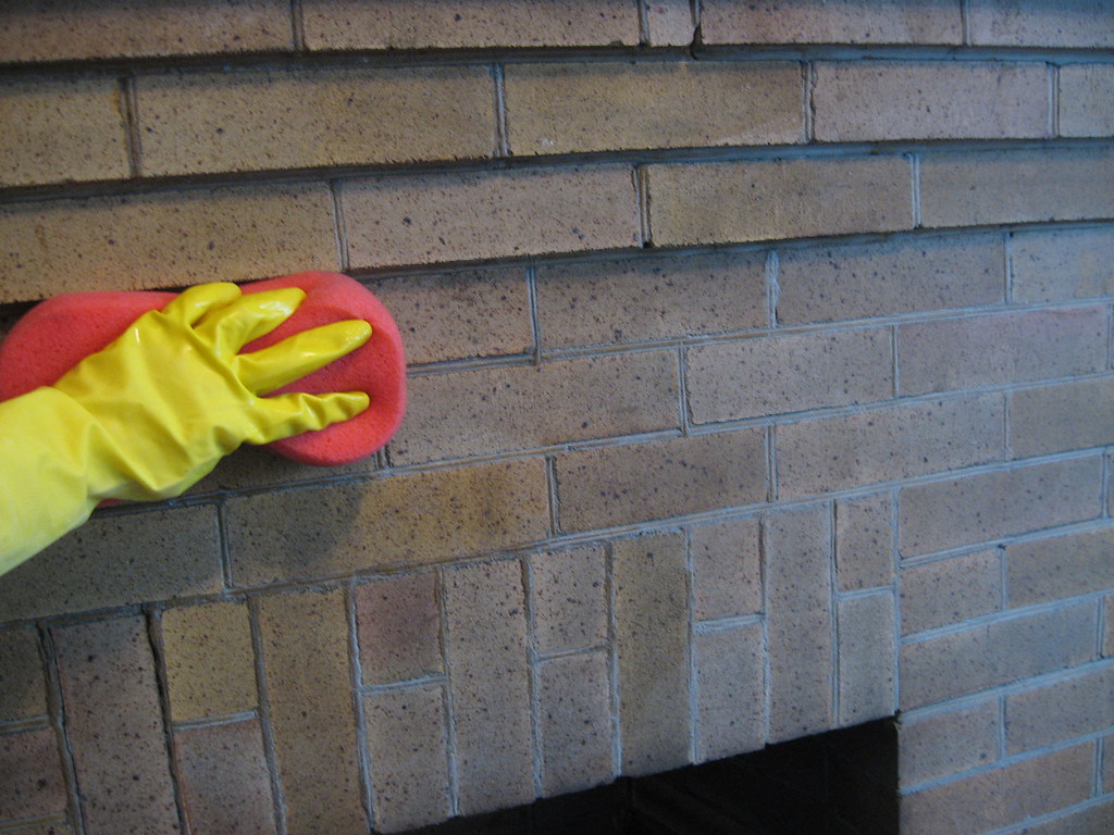 How To Clean A Brick Fireplace Decor Adventures Flickr