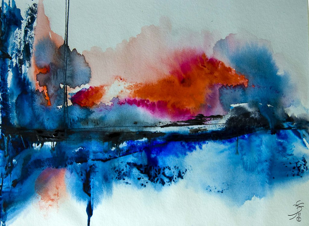 abstract and water color - photo #11