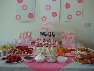 Baby Shower Set Up The Whole Shabang Angie Cakes Flickr