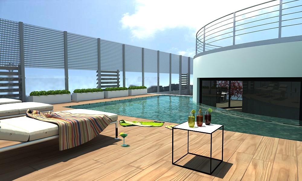 Terrazzo attico piscina la capitale ha il suo primo edific flickr - Appartamenti in montagna con piscina ...