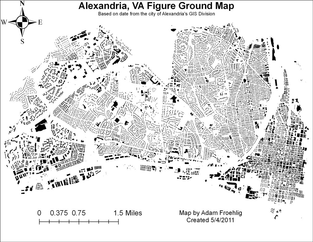 foot-prints_alex-figureground | A figure ground map using data from the … | Flickr